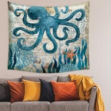 Octopus Print Tapestry