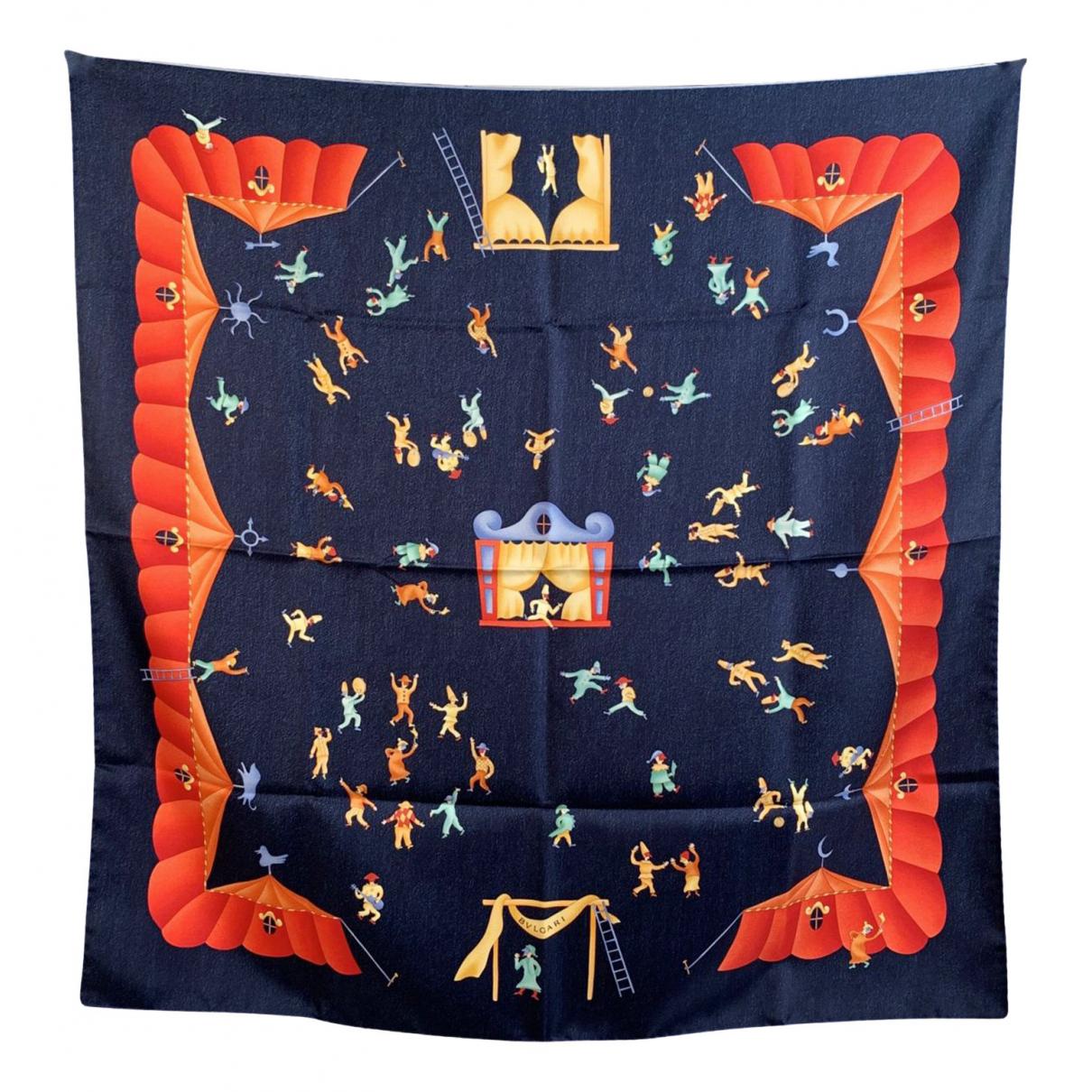 Bvlgari \N Blue Silk Silk handkerchief for Women \N