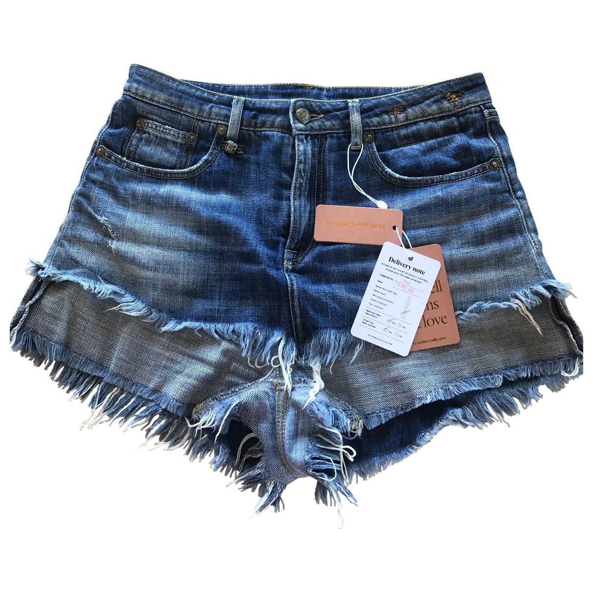 R13 \N Blue Denim - Jeans Shorts for Women 29 US