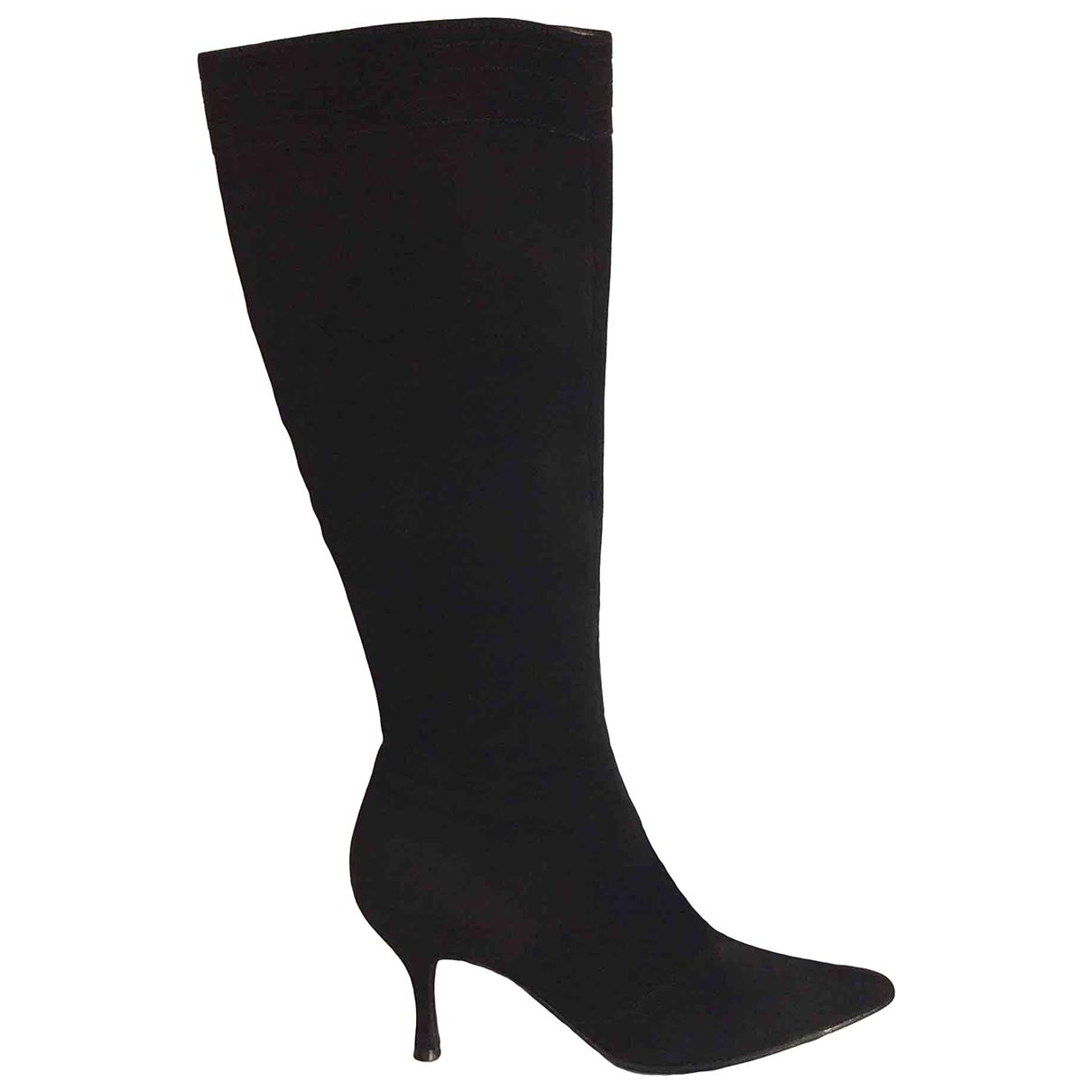 Salvatore Ferragamo \N Black Suede Boots for Women 7.5 US