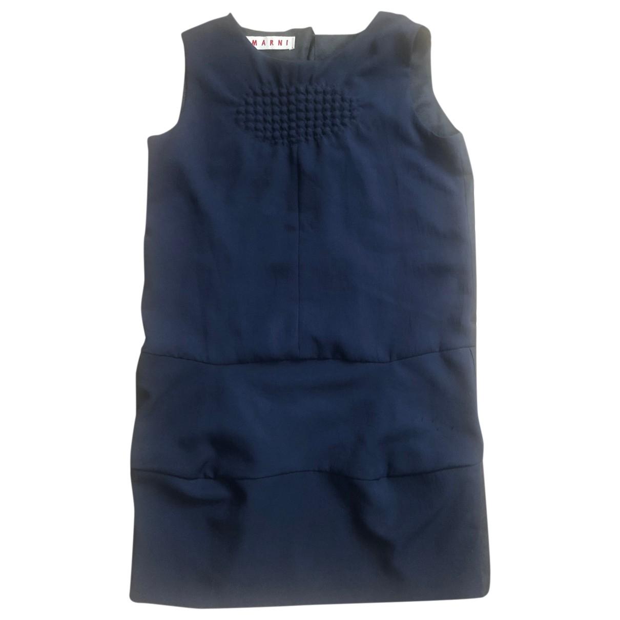 Marni \N Kleid in  Marine Polyester