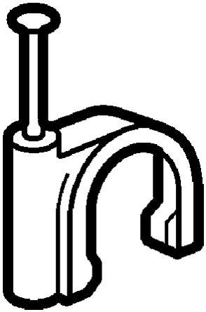 Legrand Cable Clip Grey Nail Cable Clip, 10mm Max. Bundle