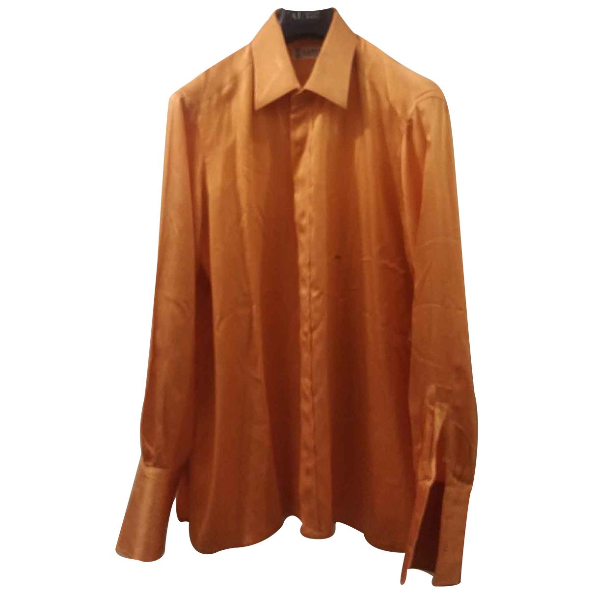 Lanvin - Chemises   pour homme en soie - orange