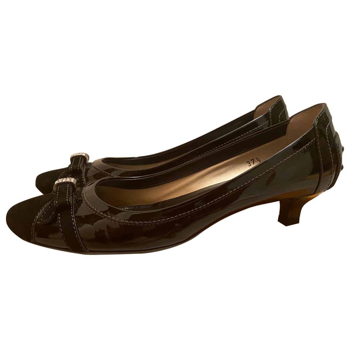 Tods - Escarpins   pour femme en cuir verni - noir