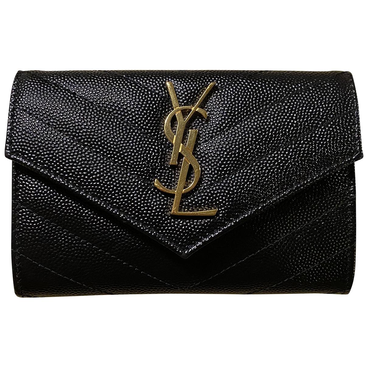 Saint Laurent Monogramme Black Leather Purses, wallet & cases for Women \N