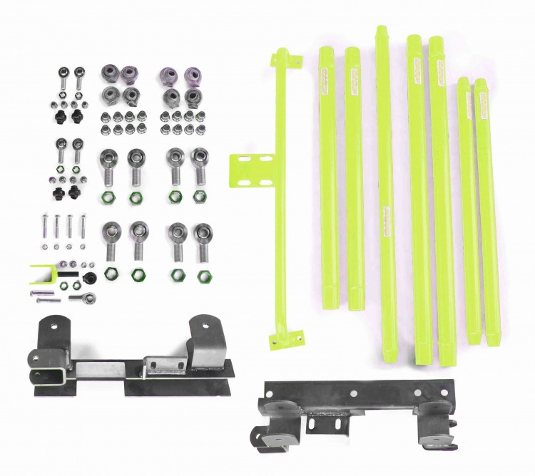 Steinjager J0046858 Long Arm Travel Kit Wrangler TJ 1997-2006 DOM Tubing Manual Transmission Gecko Green