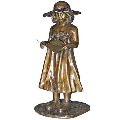 PN6580 Beulahs Sundress Girl Reading Bronze