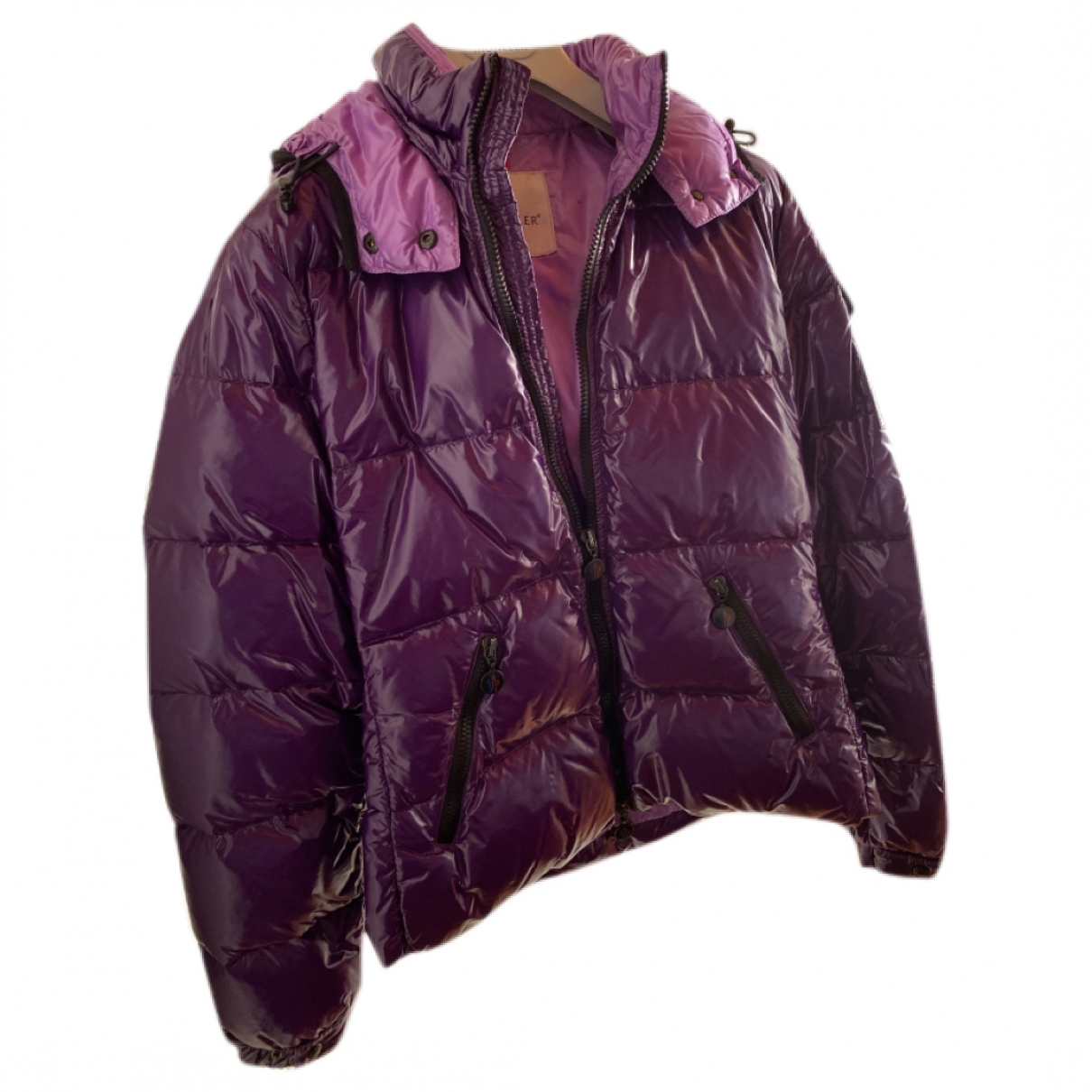 Moncler Hood Jacke in  Lila Polyester