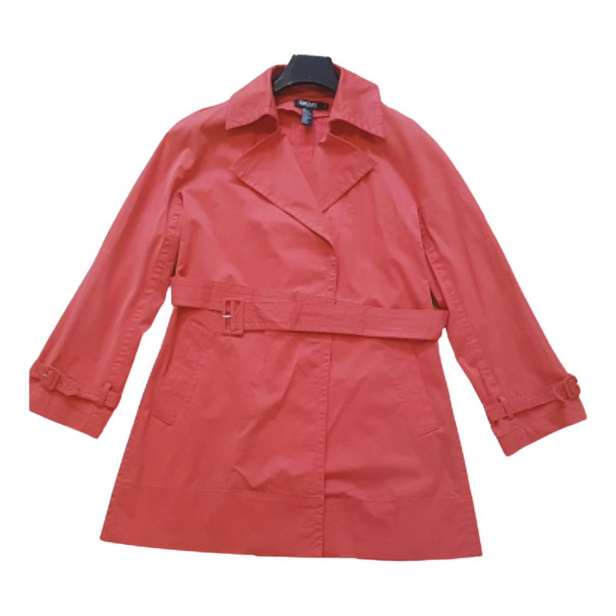 Dkny - Trench   pour femme en coton - rouge