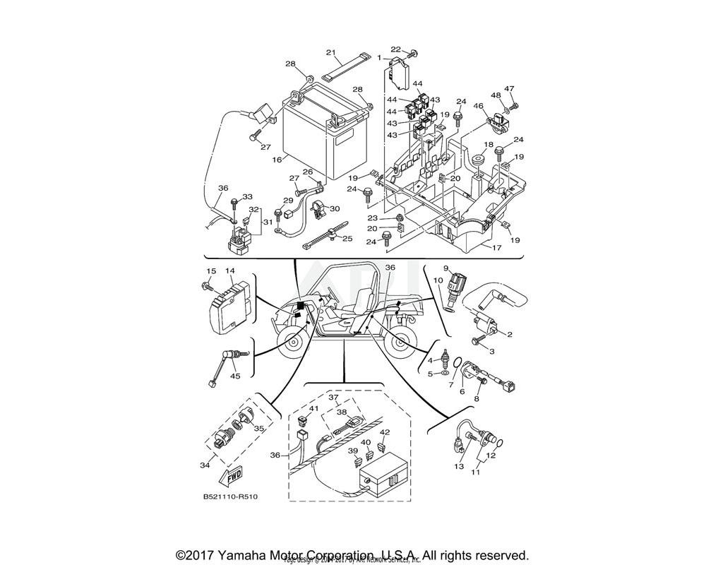 Yamaha OEM 2MB-H2540-10-00 NEUTRAL SWITCH ASSY