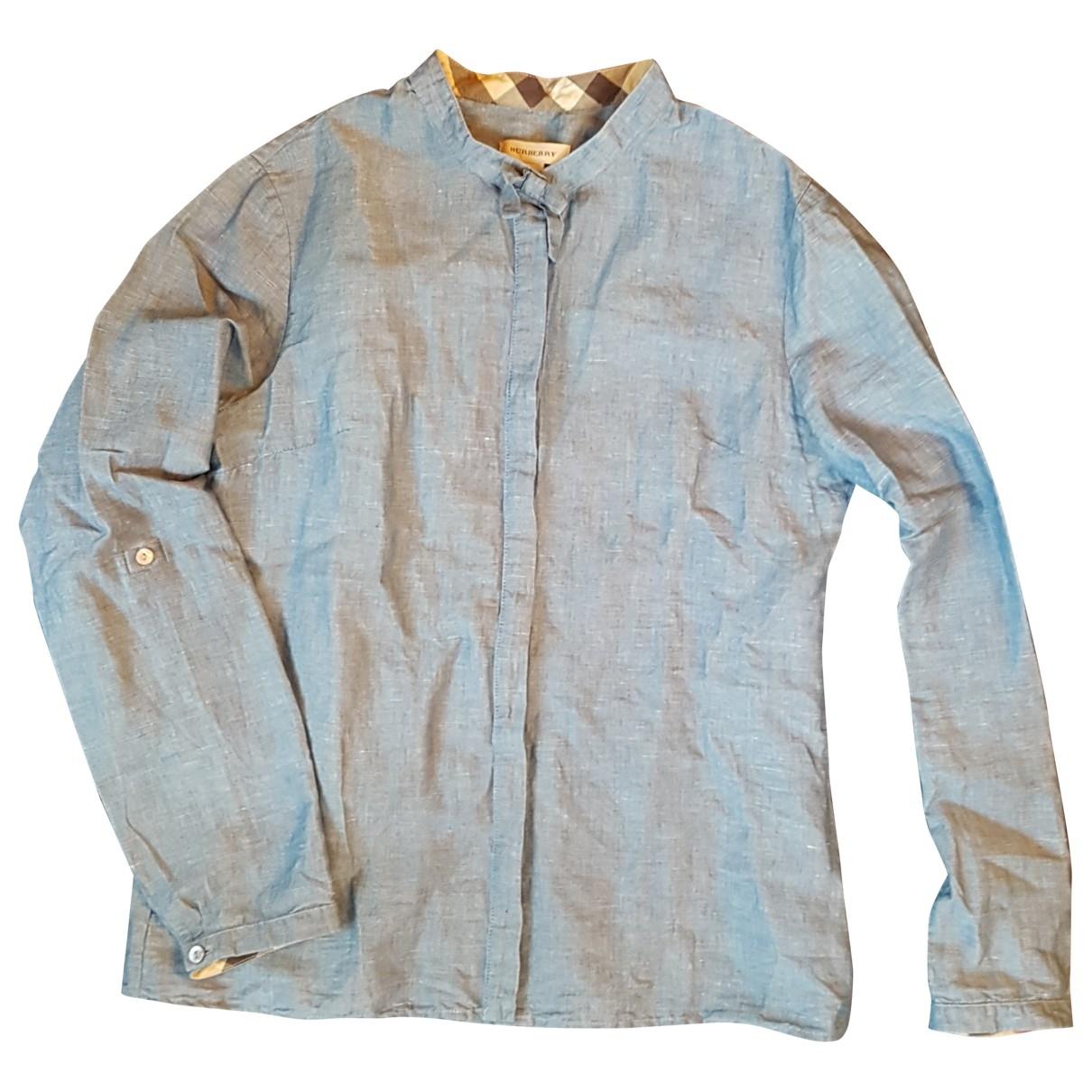 Camisa de Lino Burberry