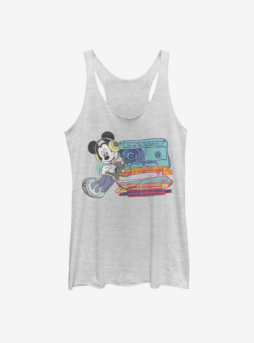 Disney Mickey Mouse Tapes Womens Tank Top