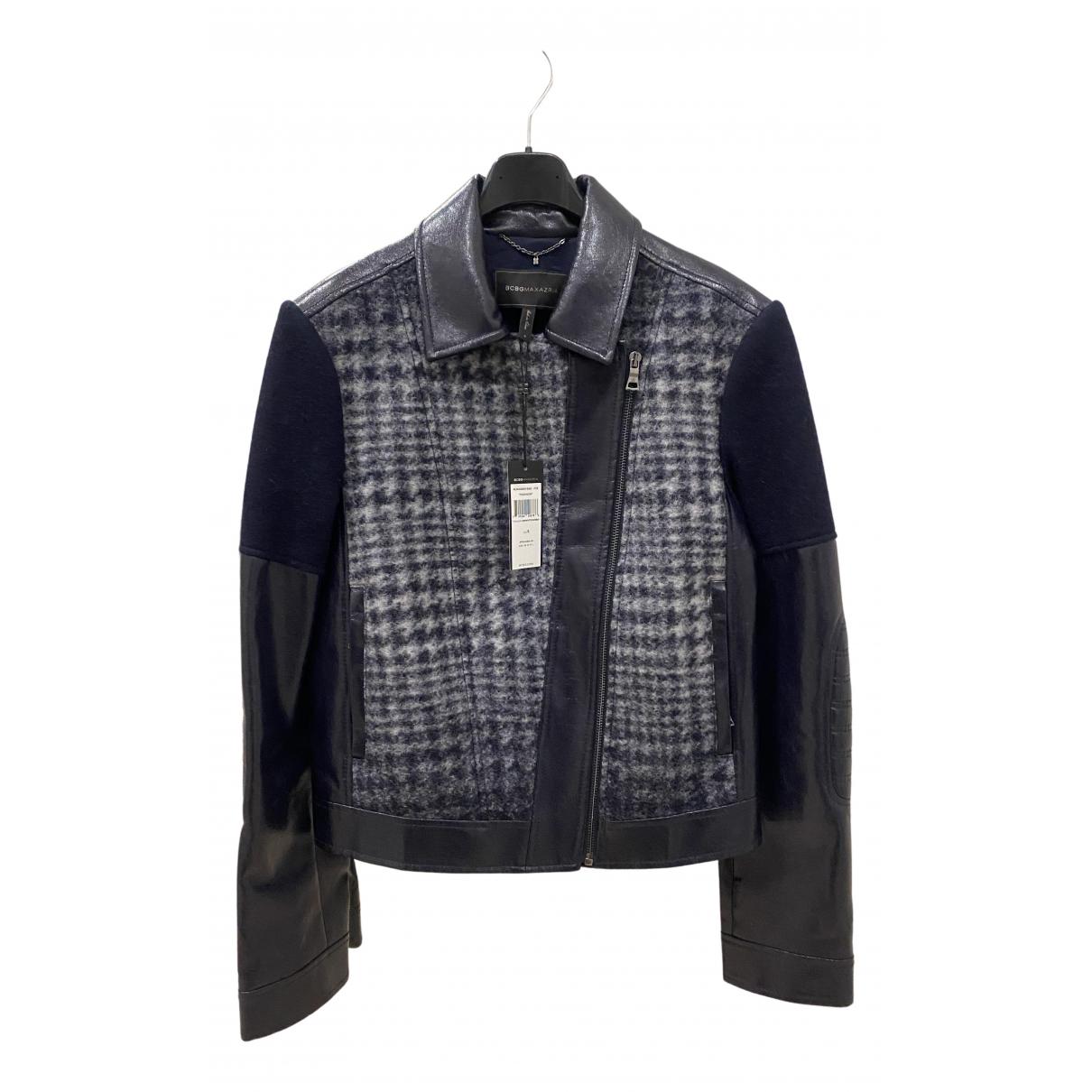 Bcbg Max Azria - Veste   pour femme en laine - bleu