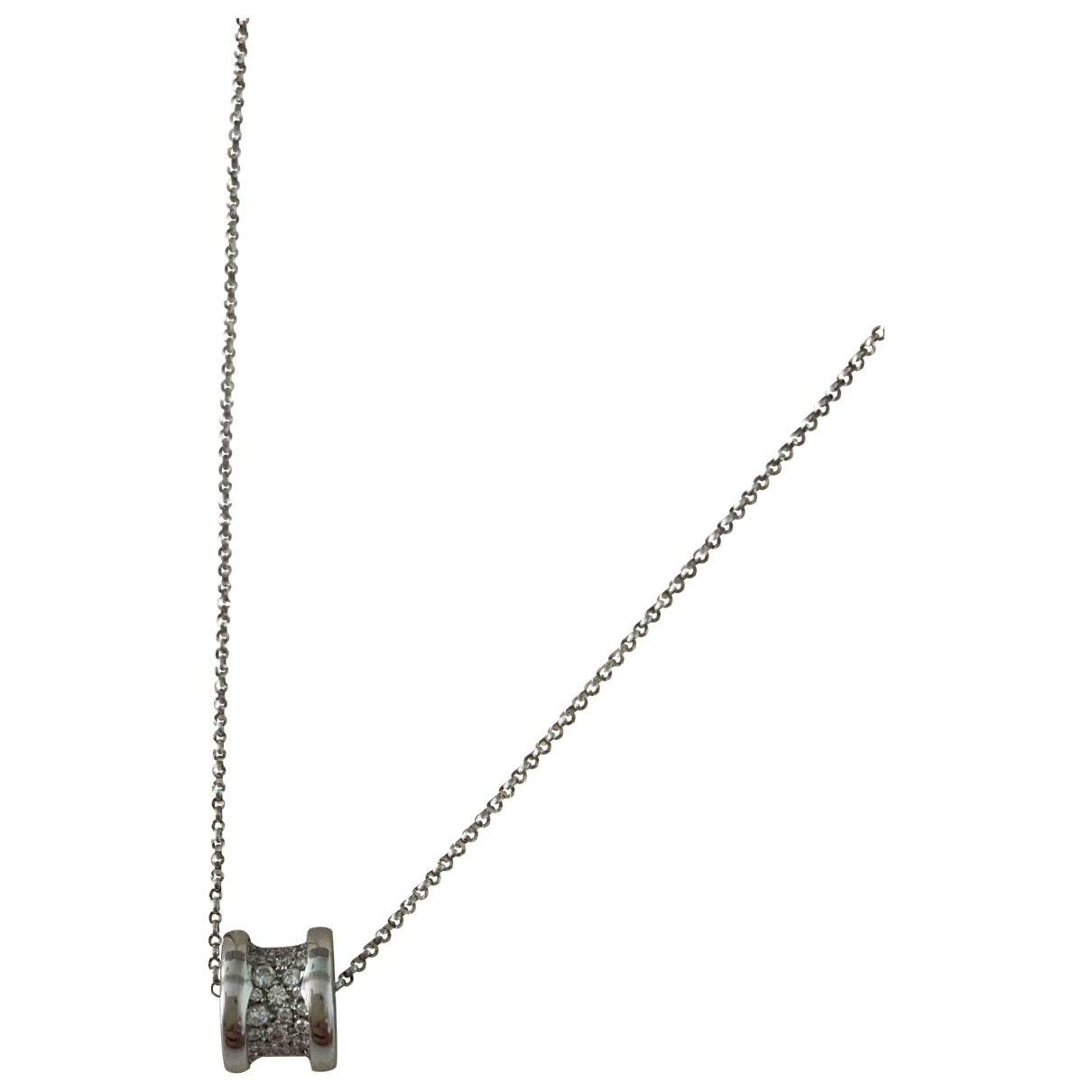 Bvlgari - Collier B.Zero1 pour femme en or blanc - argente