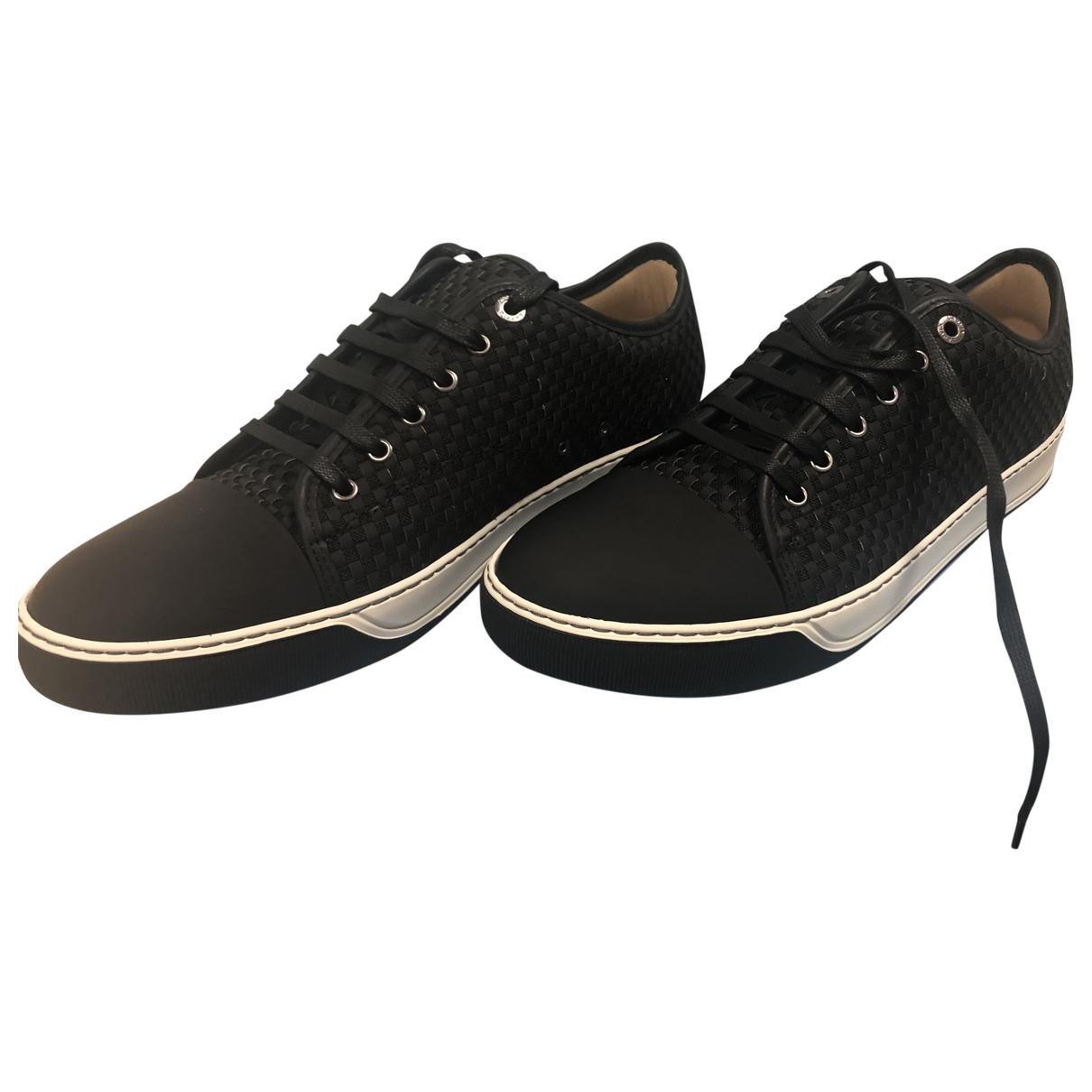 Lanvin - Baskets   pour homme en cuir - noir