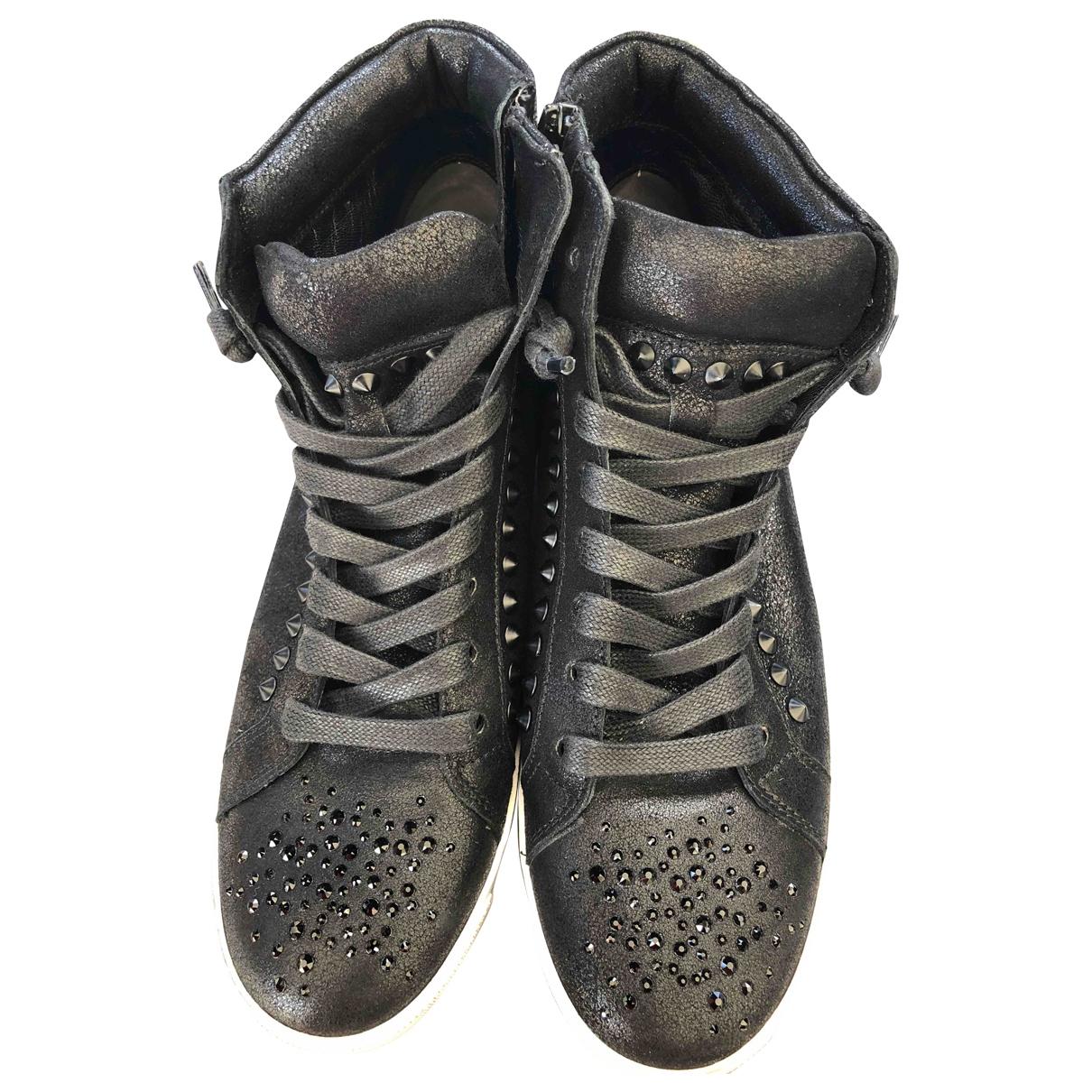 Kennel Und Schmenger \N Black Leather Trainers for Women 39 EU
