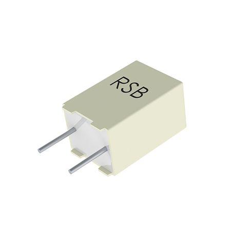 KEMET 2.2μF Polyester Capacitor PET 30 V ac, 50 V dc ±10%, Through Hole (10)