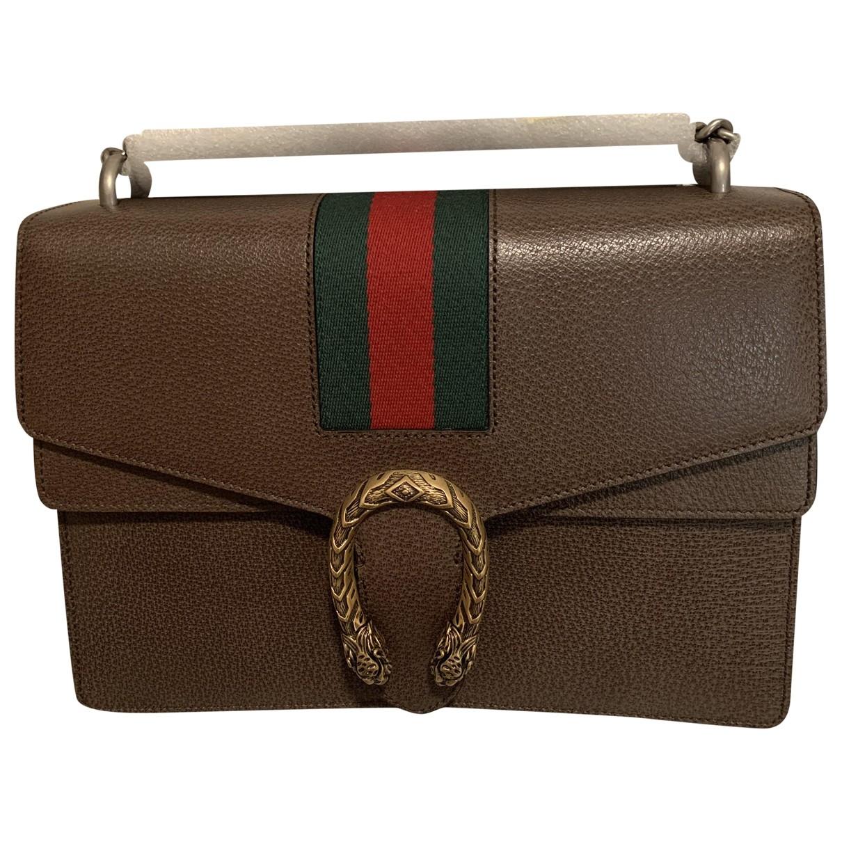 Gucci Dionysus Handtasche in  Braun Leder