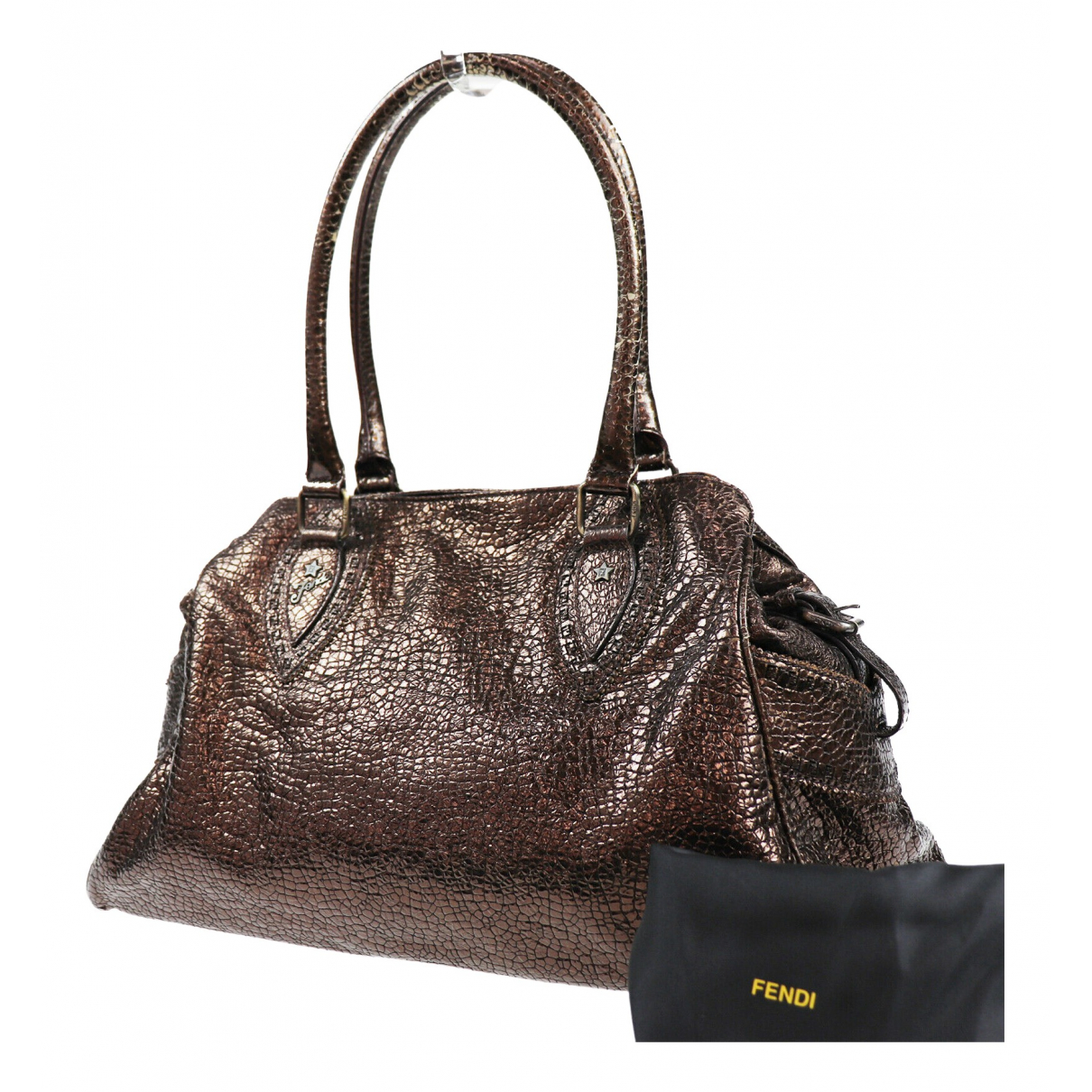 Fendi \N Brown Patent leather handbag for Women \N