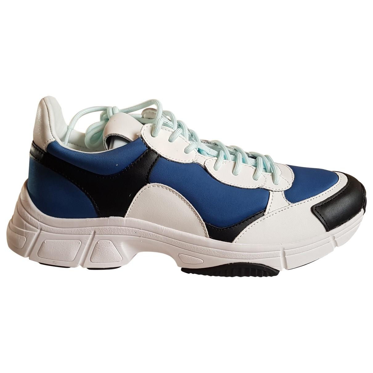 Calvin Klein - Baskets   pour homme en cuir - bleu