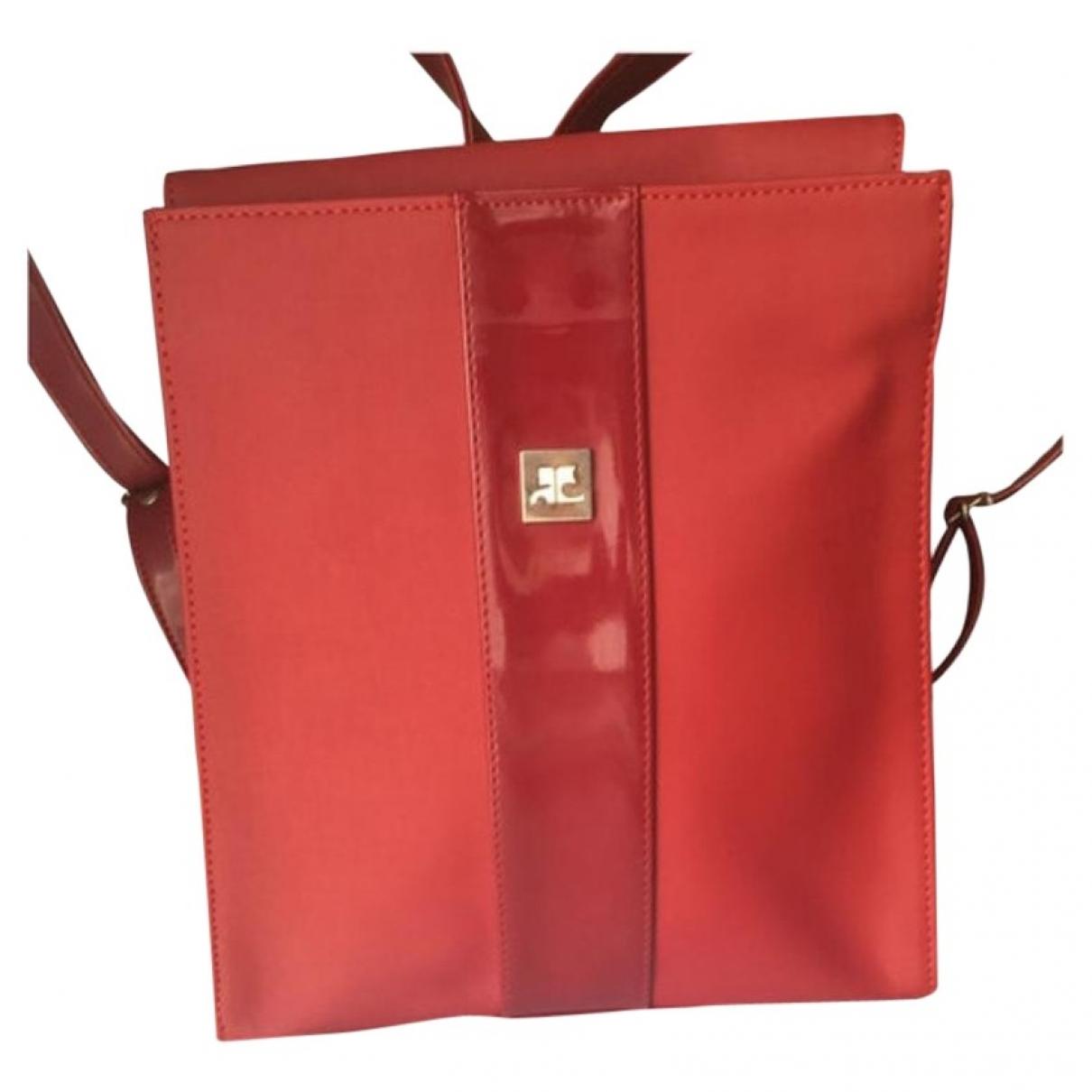 Courreges \N Rucksaecke in  Rot Kunststoff