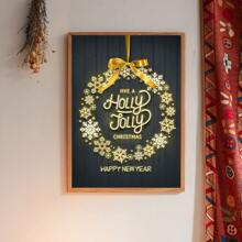Christmas Snowflake Print Wall Painting Without Frame