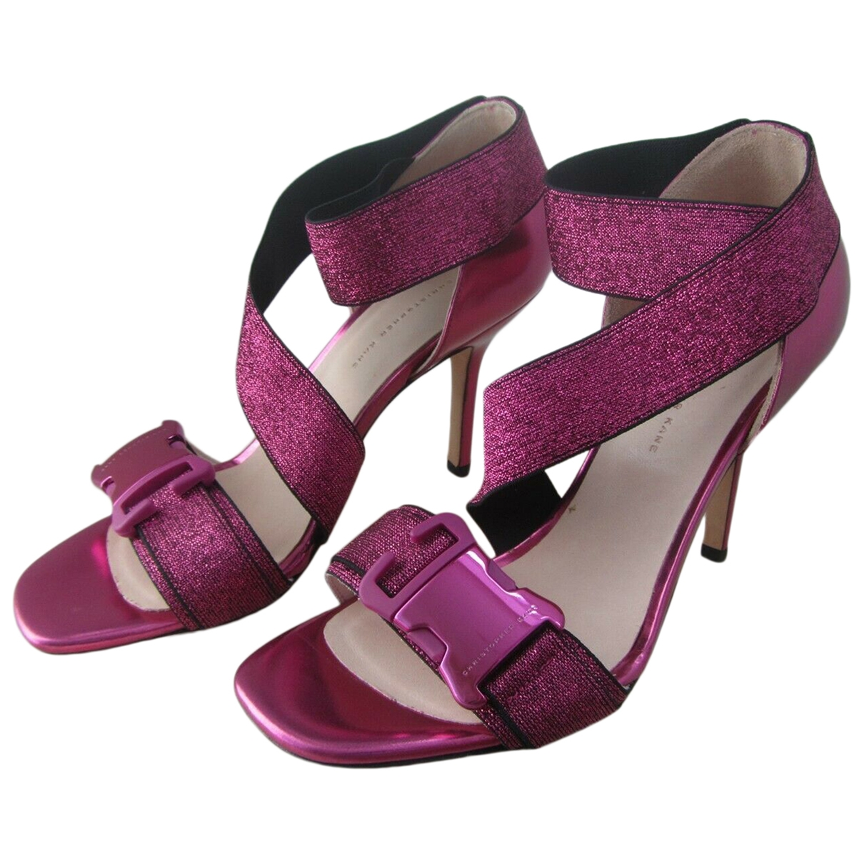 Christopher Kane \N Pink Leather Heels for Women 38 EU