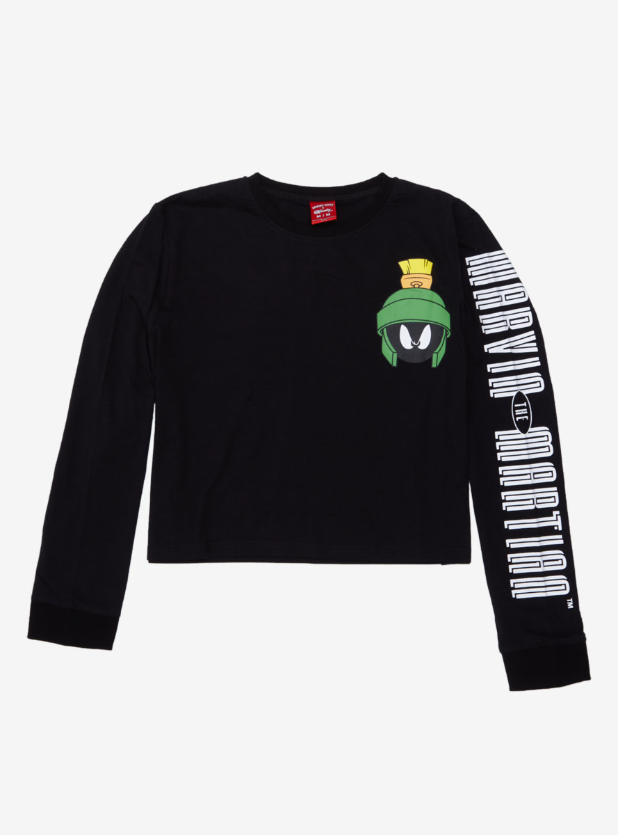 Cakeworthy Looney Tunes Marvin the Martian Crop Long Sleeve T-Shirt