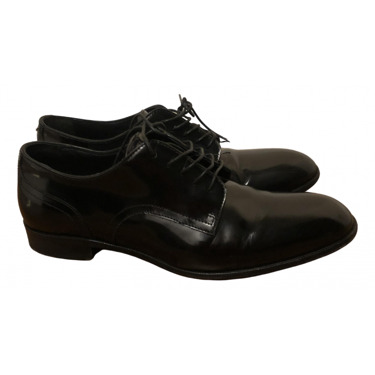 Dsquared2 \N Black Patent leather Lace ups for Women 38.5 IT