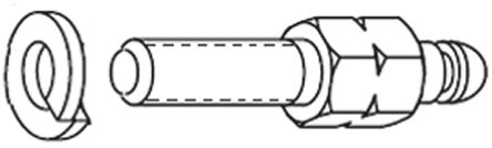Provertha , Inducom Blank Rail D-Sub Backshells