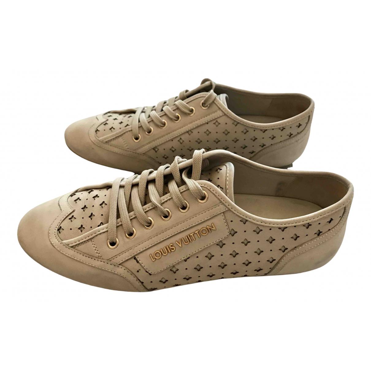 Louis Vuitton N Ecru Leather Trainers for Women 38 EU