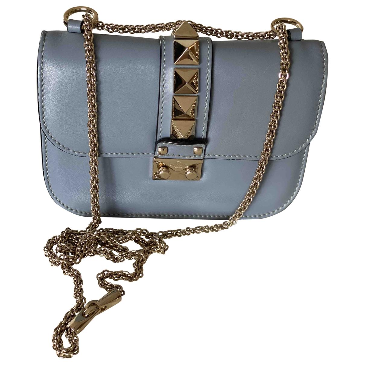 Valentino Garavani Glam Lock Blue Leather handbag for Women \N