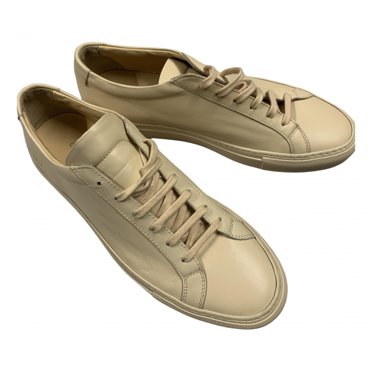 Common Projects \N Beige Leather Trainers for Men 8 UK