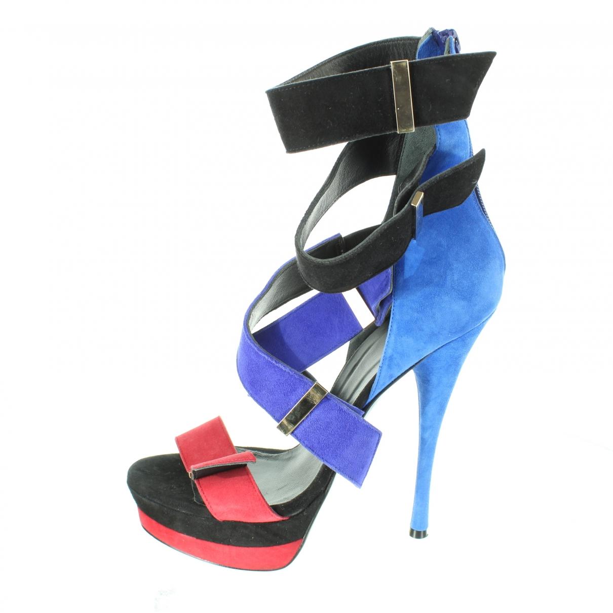 Versace - Escarpins   pour femme en suede - multicolore