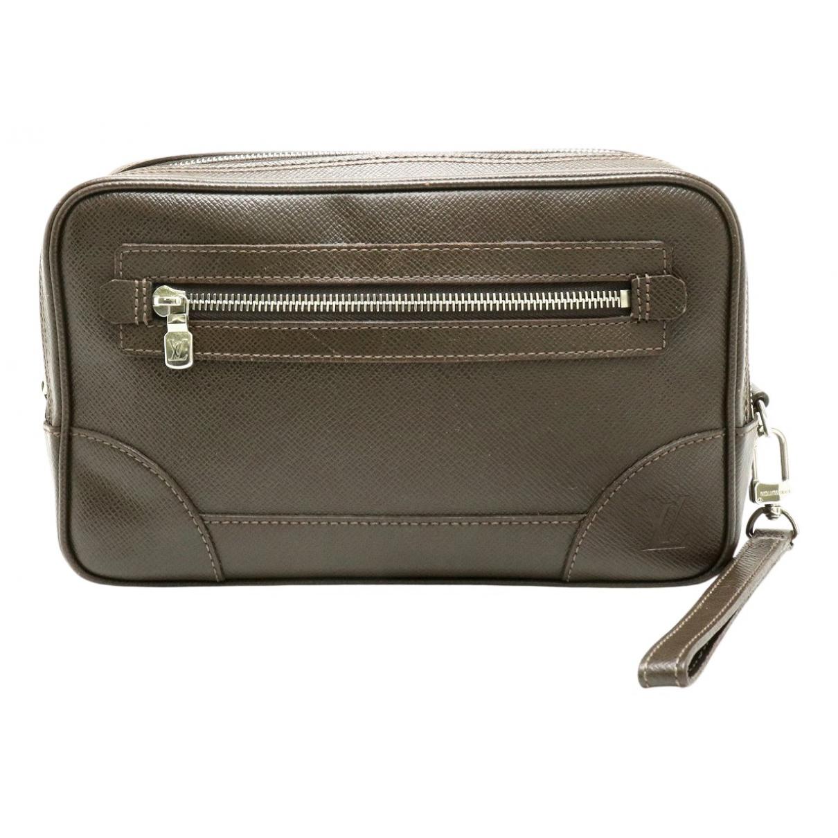 Louis Vuitton - Pochette   pour femme en cuir - gris