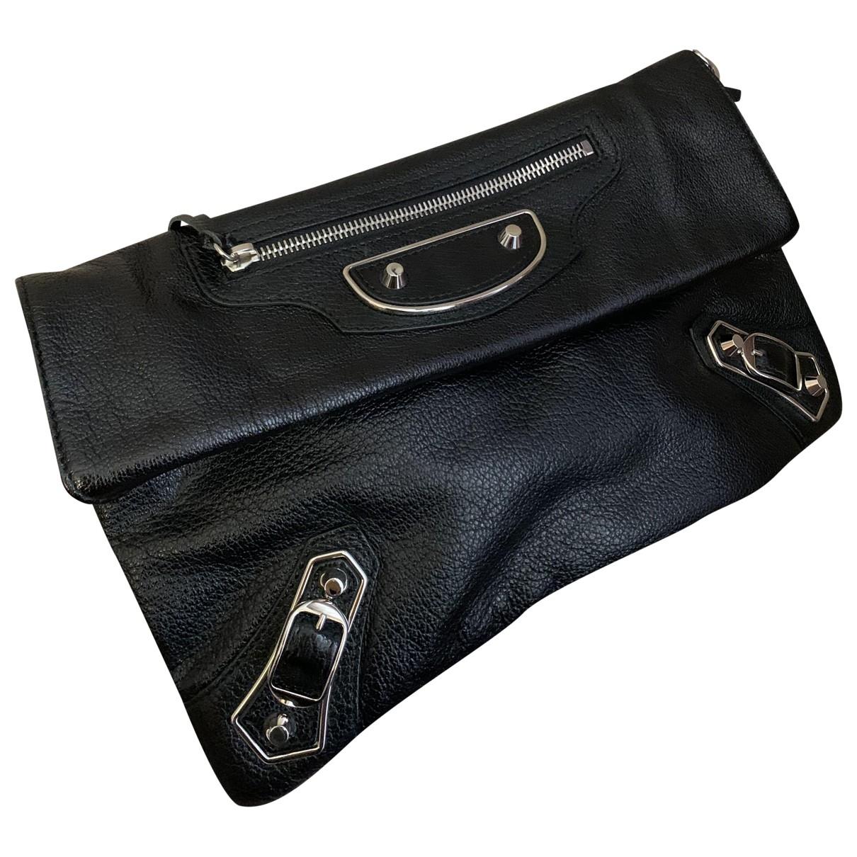 Balenciaga - Pochette Envelop pour femme en cuir - noir