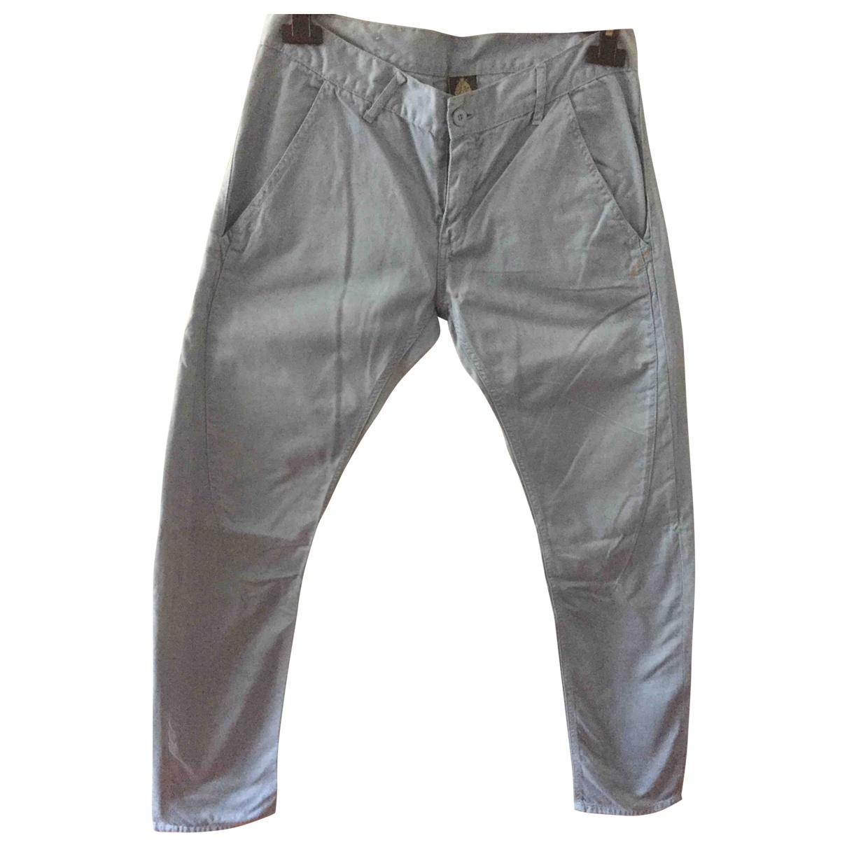 Dondup \N Turquoise Cotton Trousers for Men 34 UK - US