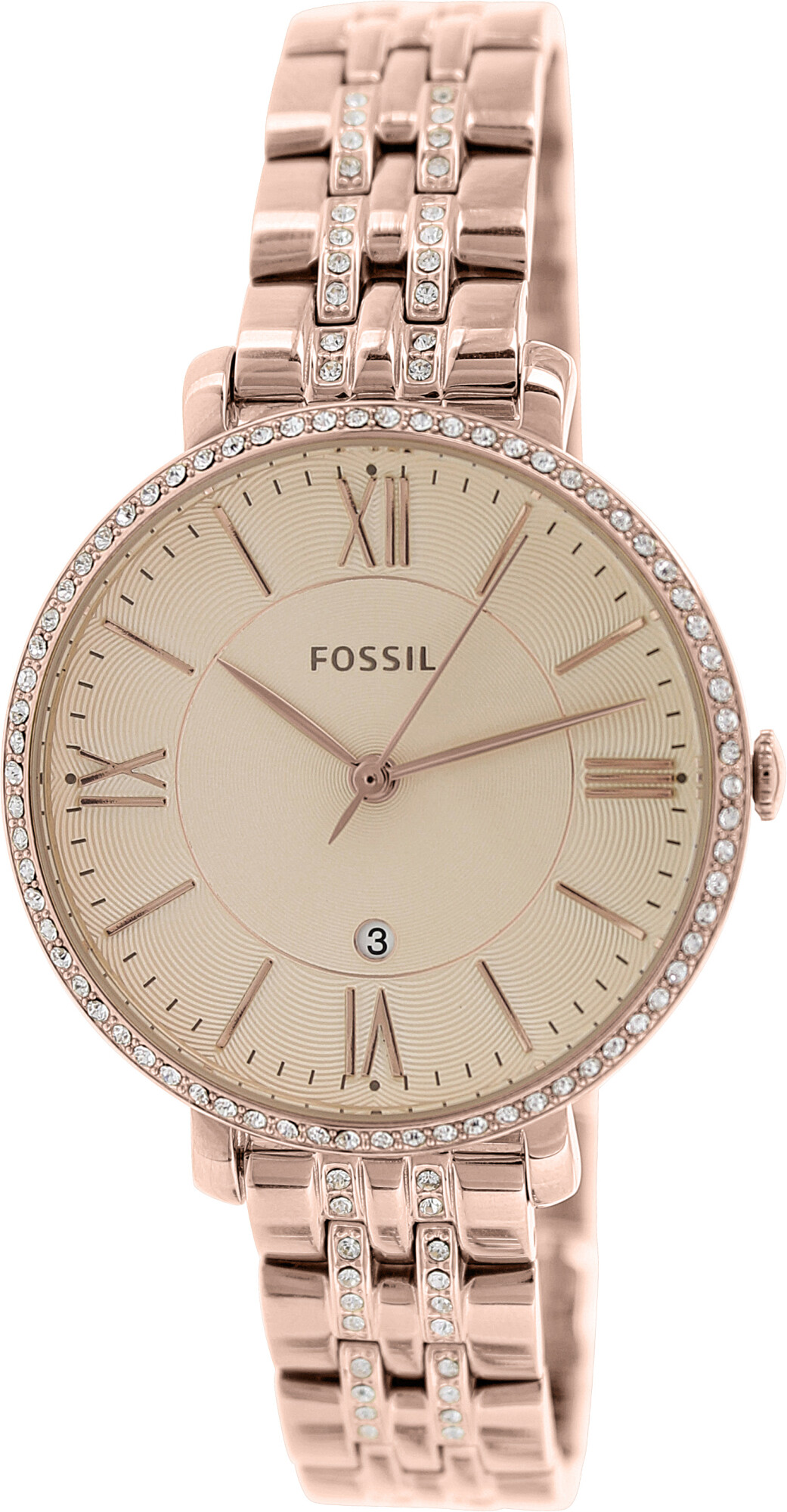 Fossil Women's Jacqueline ES3546 Rose-Gold Stainless-Steel Plated Japanese Quartz Fashion Watch