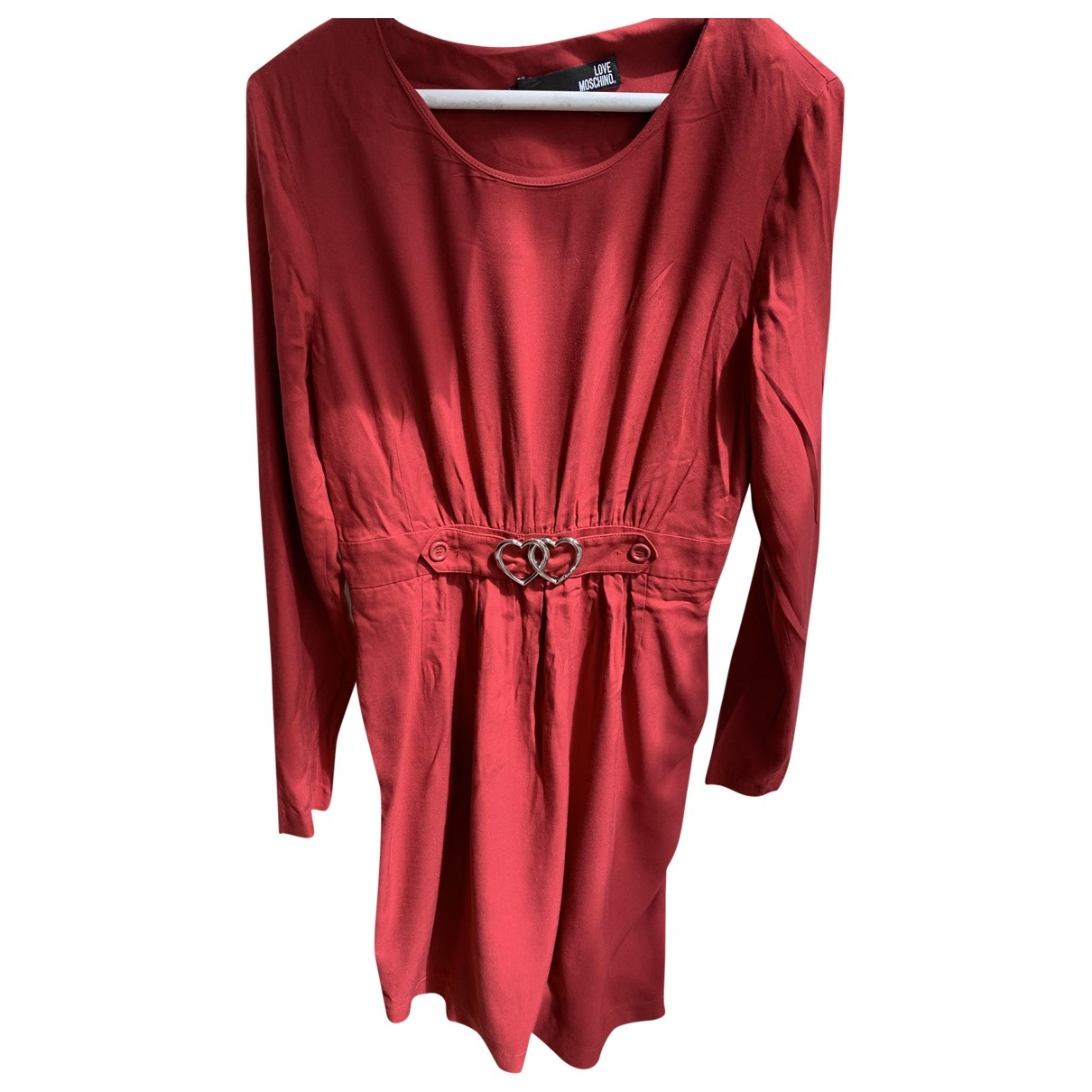 Moschino Love \N Red Cotton dress for Women 10 UK