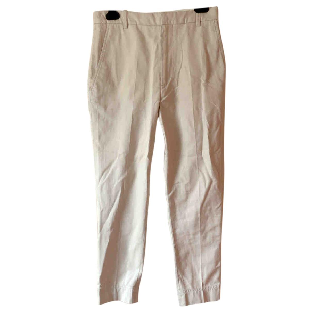 Isabel Marant Etoile N Ecru Cotton Trousers for Women 36 FR