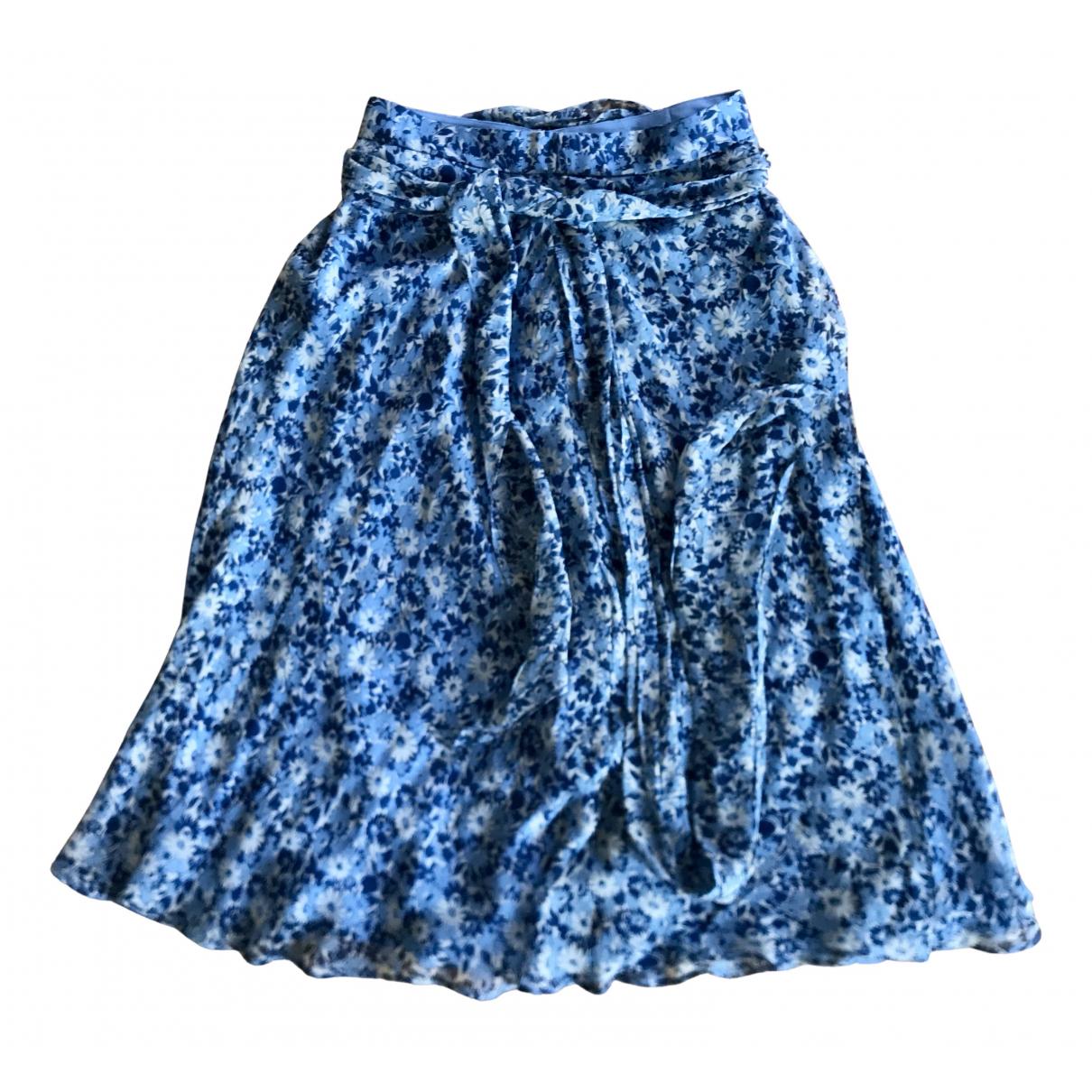 Polo Ralph Lauren - Jupe   pour femme en soie - bleu