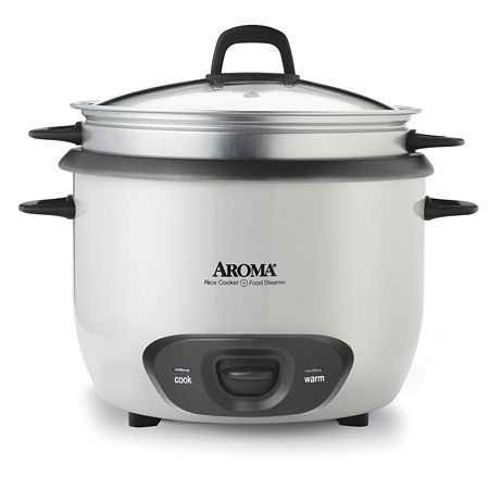 Aroma Arc-743-1ng Non-Stick Rice Cooker 6 cup, One Size , White