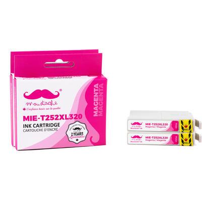 Compatible Epson T252XL320 - 252XL cartouche d'encre magenta haute capacite - Moustache - 2/paquet