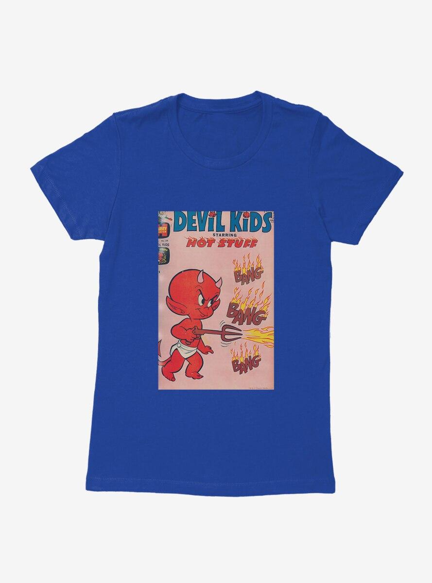 Hot Stuff The Little Devil Bang Bang Comic Cover Womens T-Shirt