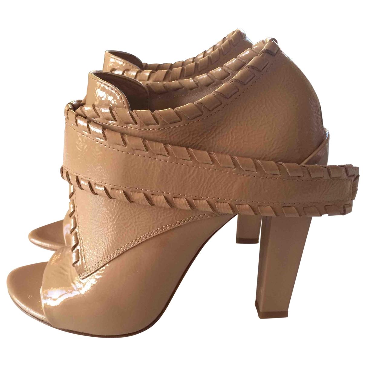 Alexander Wang - Boots   pour femme en cuir verni - beige