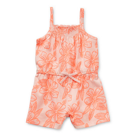 Okie Dokie Baby Girls Sleeveless Romper, 12 Months , Pink