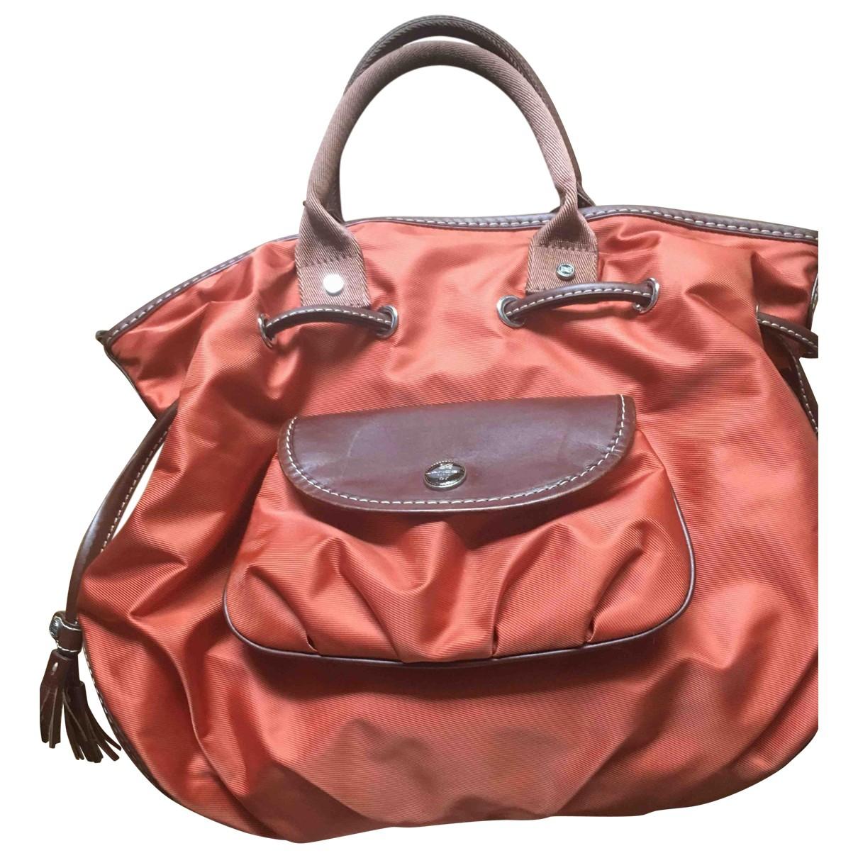 Lancel \N Handtasche in  Orange Leinen