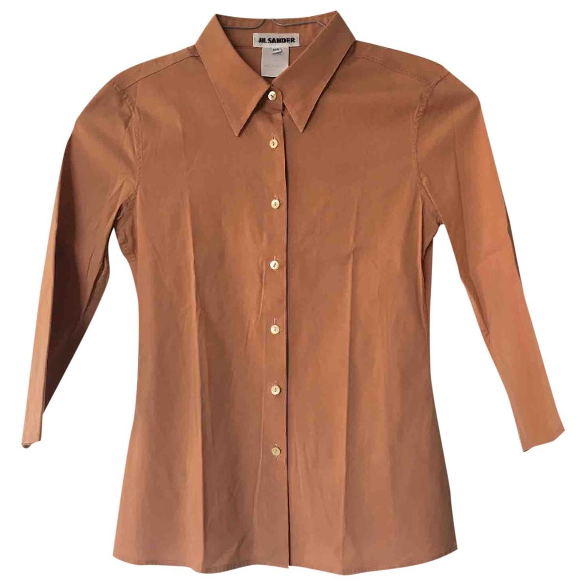 Jil Sander - Top   pour femme en coton - rose