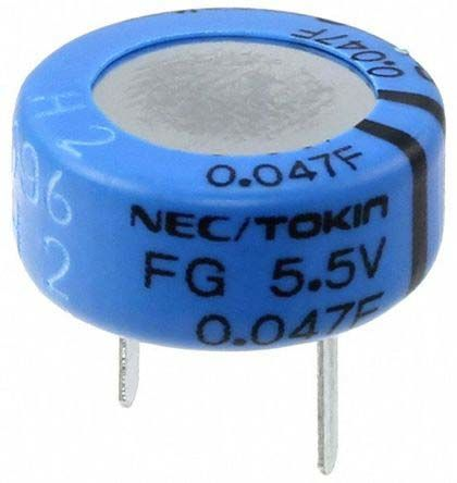KEMET 4.7F Supercapacitor -20 → +80% Tolerance, Supercap FG 5.5V dc, Through Hole (50)