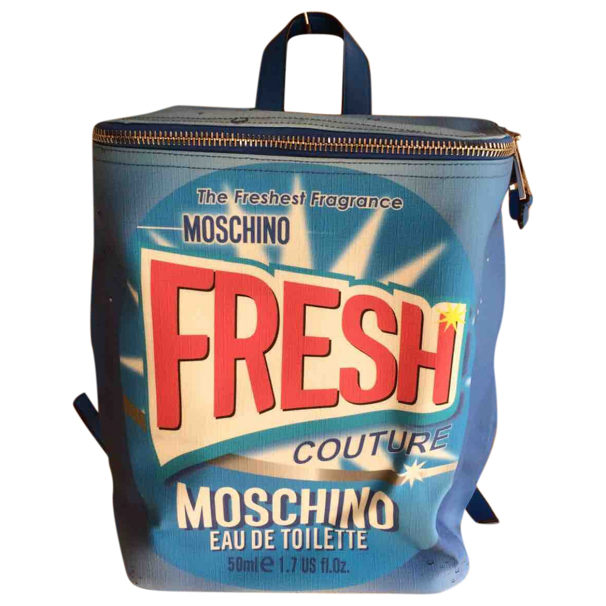 Moschino \N Blue Leather backpack for Women \N